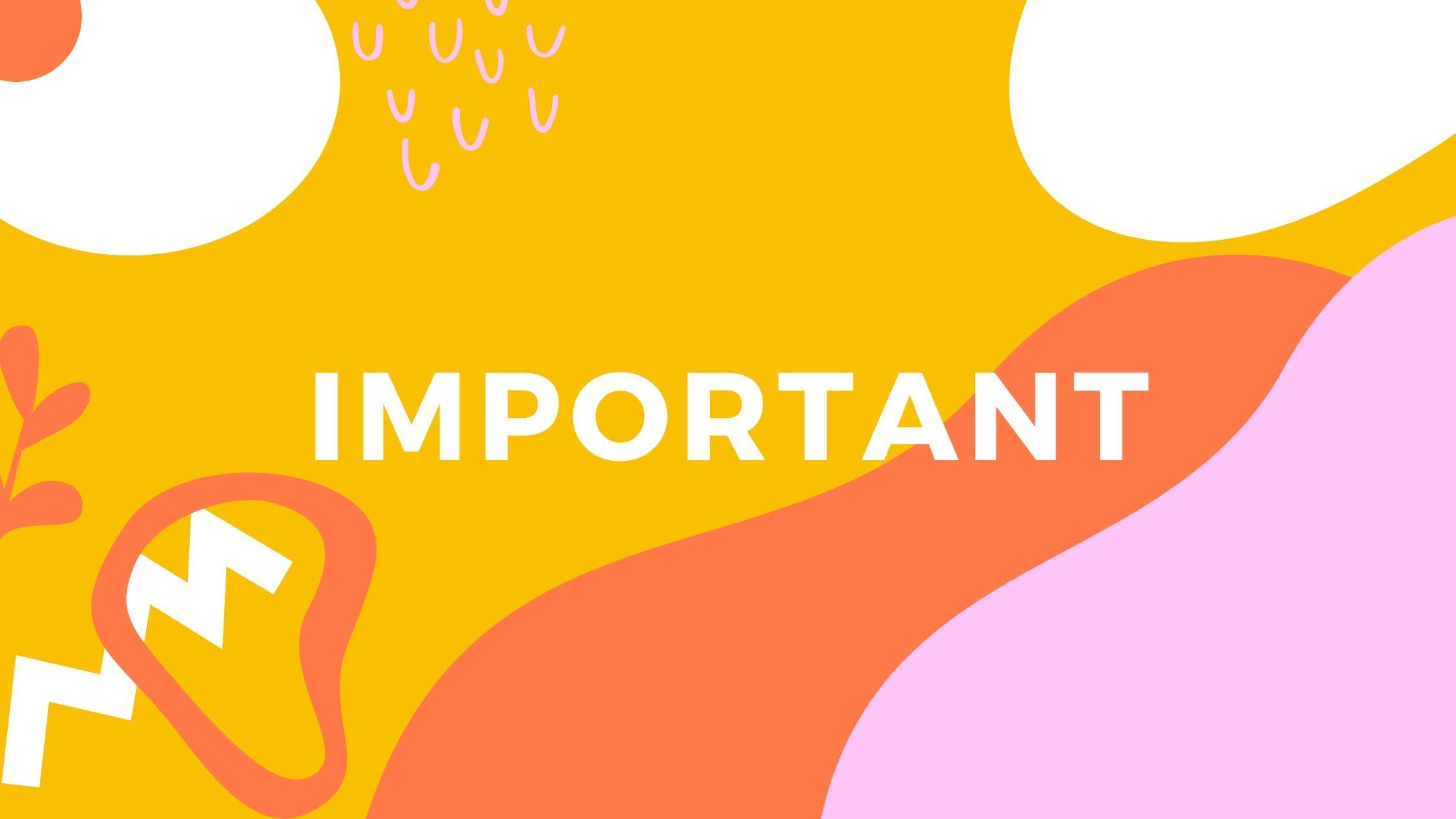 重要(IMPORTANT)