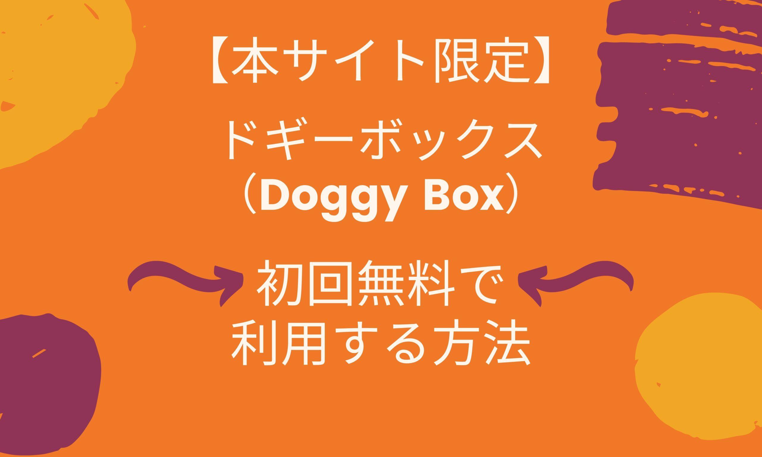 ドギーボックス (Doggy Box) 初回無料で 利用する方法
