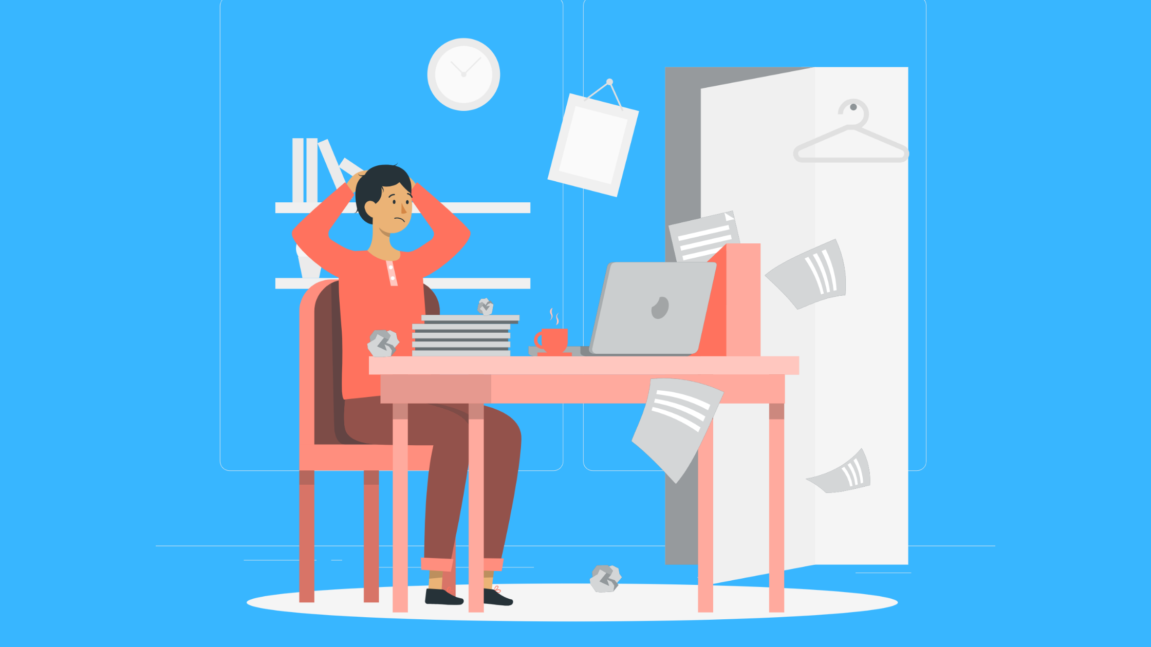 Clutter Flat Illustrations
